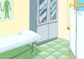 Priorità bassa del fumetto di interiore dellufficio medico
