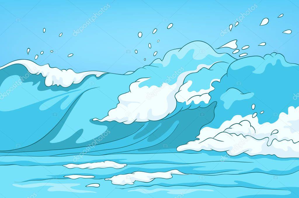 Dibujos Animados Fondo De Paisaje De Mar