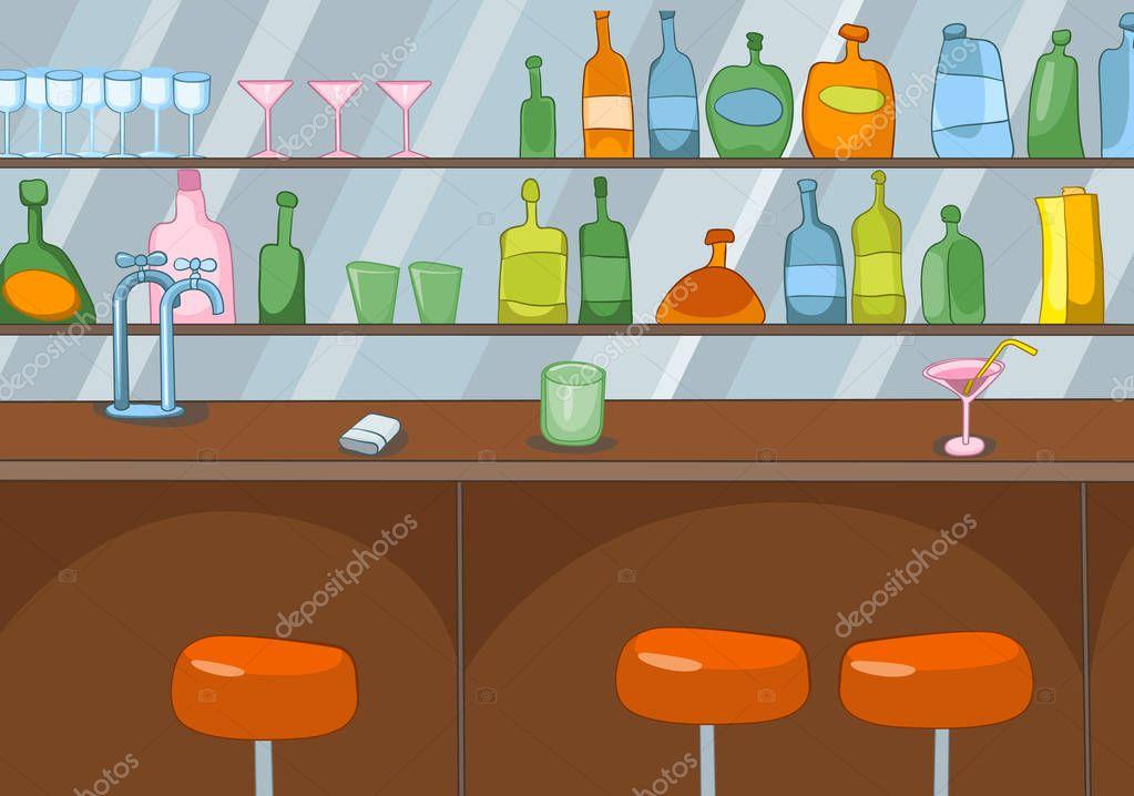 Dibujos animados fondo de barra de bar foto de stock for Barra bar madera dibujo