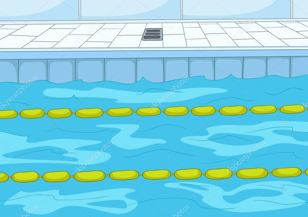 Cartoon background of swimming pool stock photo for Fondos de piscinas dibujos