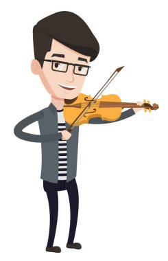 Musician playing violin vector illustration.