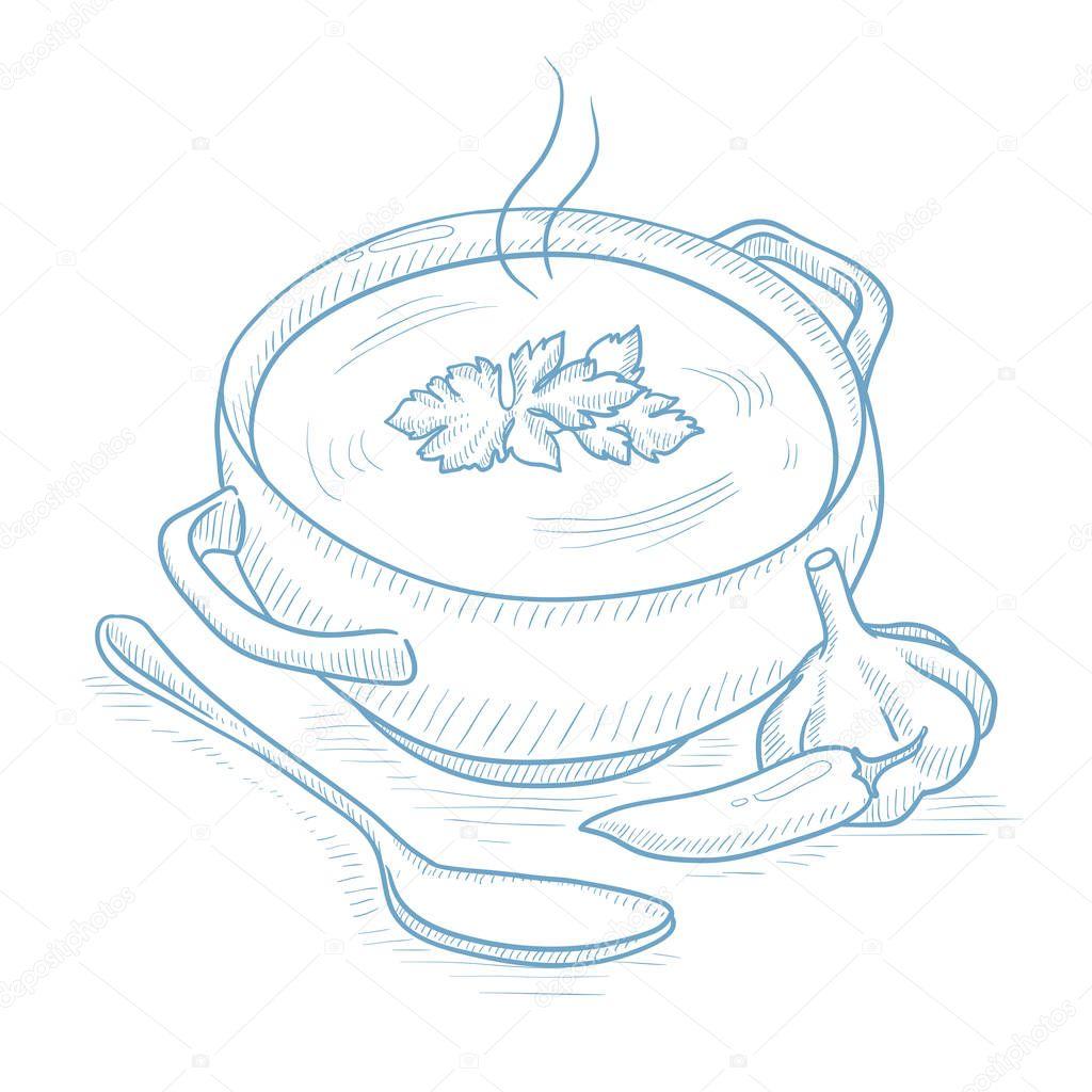 Marmite de soupe chaude image vectorielle rastudio 129610362 - Dessin marmite ...