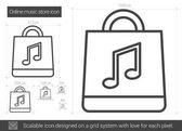 Online hudební obchod řádku ikona