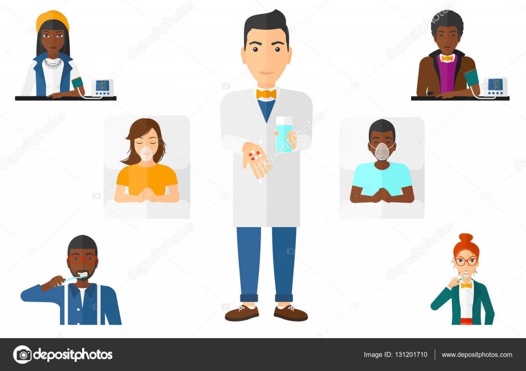 Доктора и пациенты видео пальцем