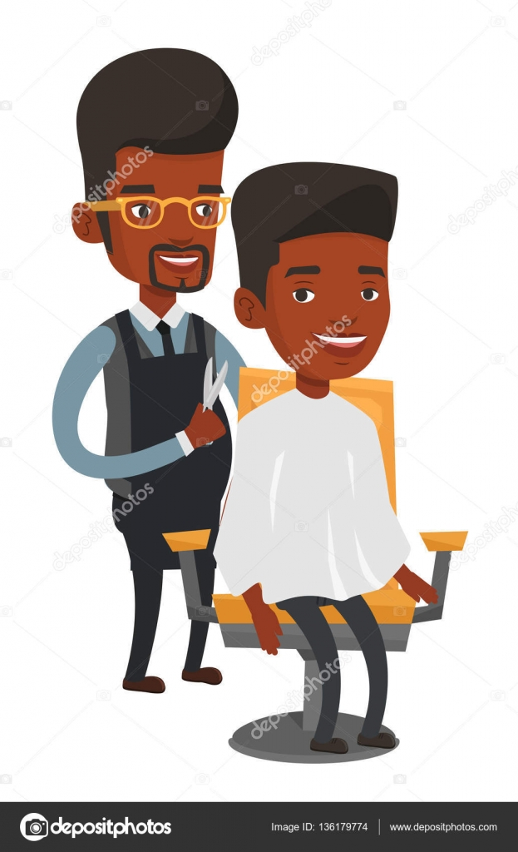 friseur haarschnitt jungen mann machen stockvektor rastudio 136179774. Black Bedroom Furniture Sets. Home Design Ideas