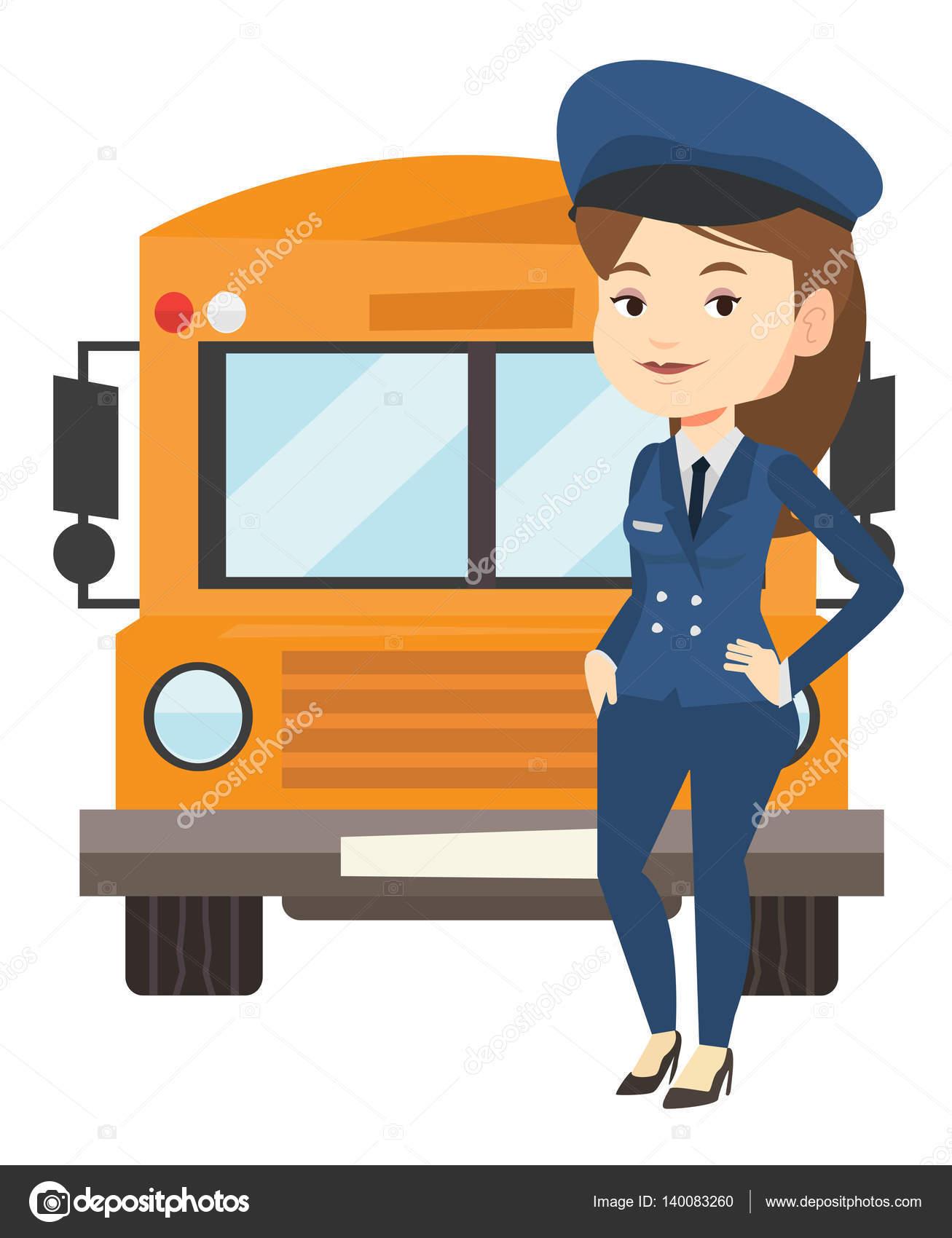 school bus driver vector illustration stock vector train conductor clipart music conductor clipart