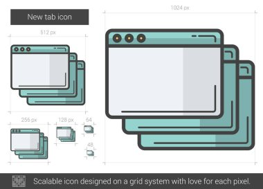 New tab line icon.