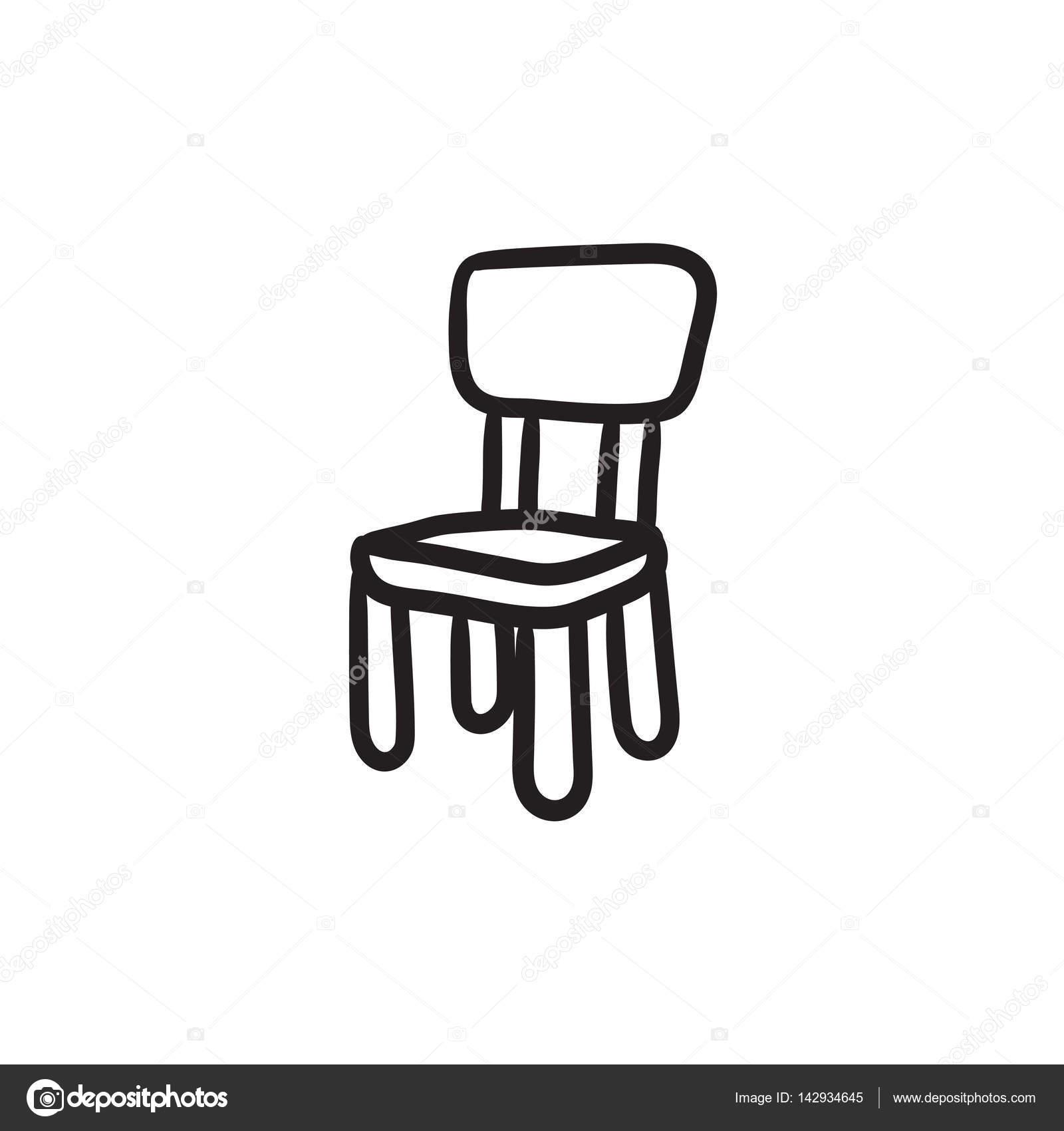 Silla para ni os dibujo icono vector de stock rastudio for Sillas para dibujar facil