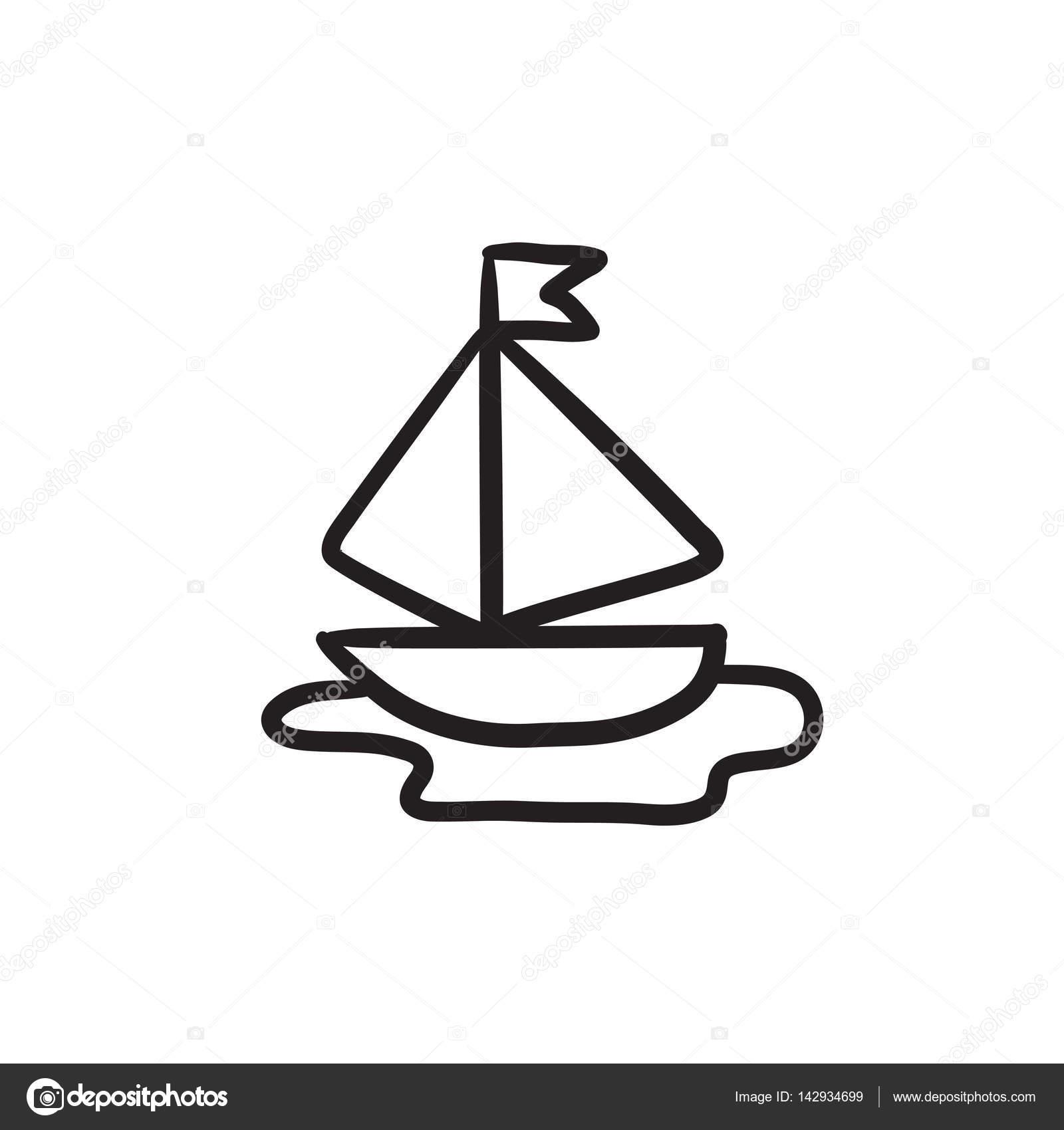 toy model of ship sketch icon u2014 stock vector rastudio 142934699