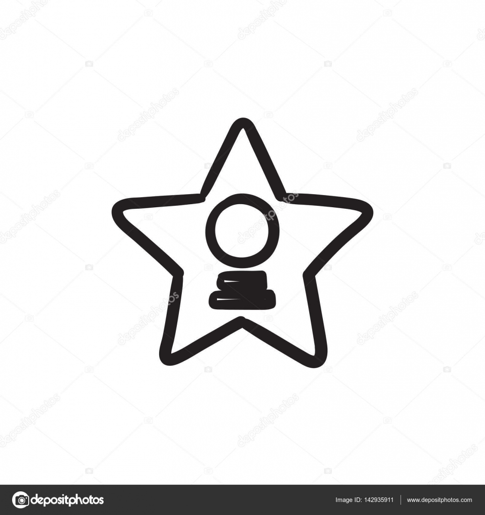 Icono De Dibujo De Estrella De Cine Vector De Stock C Rastudio