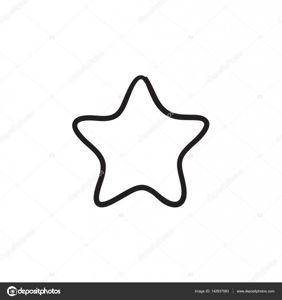 Icono De Dibujo Estrellas De Calificacion Archivo Imagenes