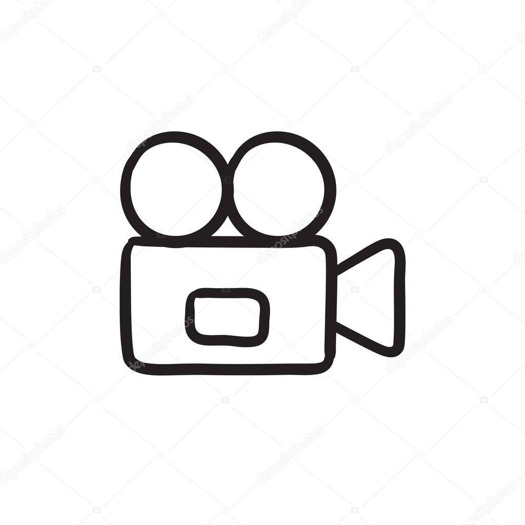 Caméra vidéo dessin icône. — Image vectorielle rastudio ...