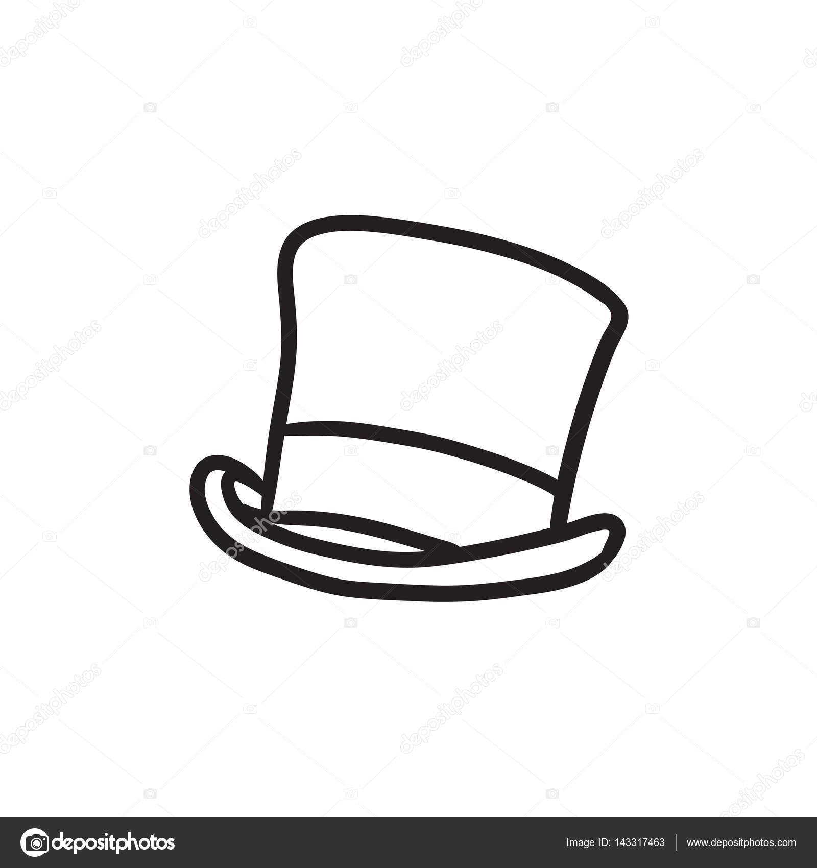 chapeau haut de forme dessin ic ne image vectorielle 143317463. Black Bedroom Furniture Sets. Home Design Ideas