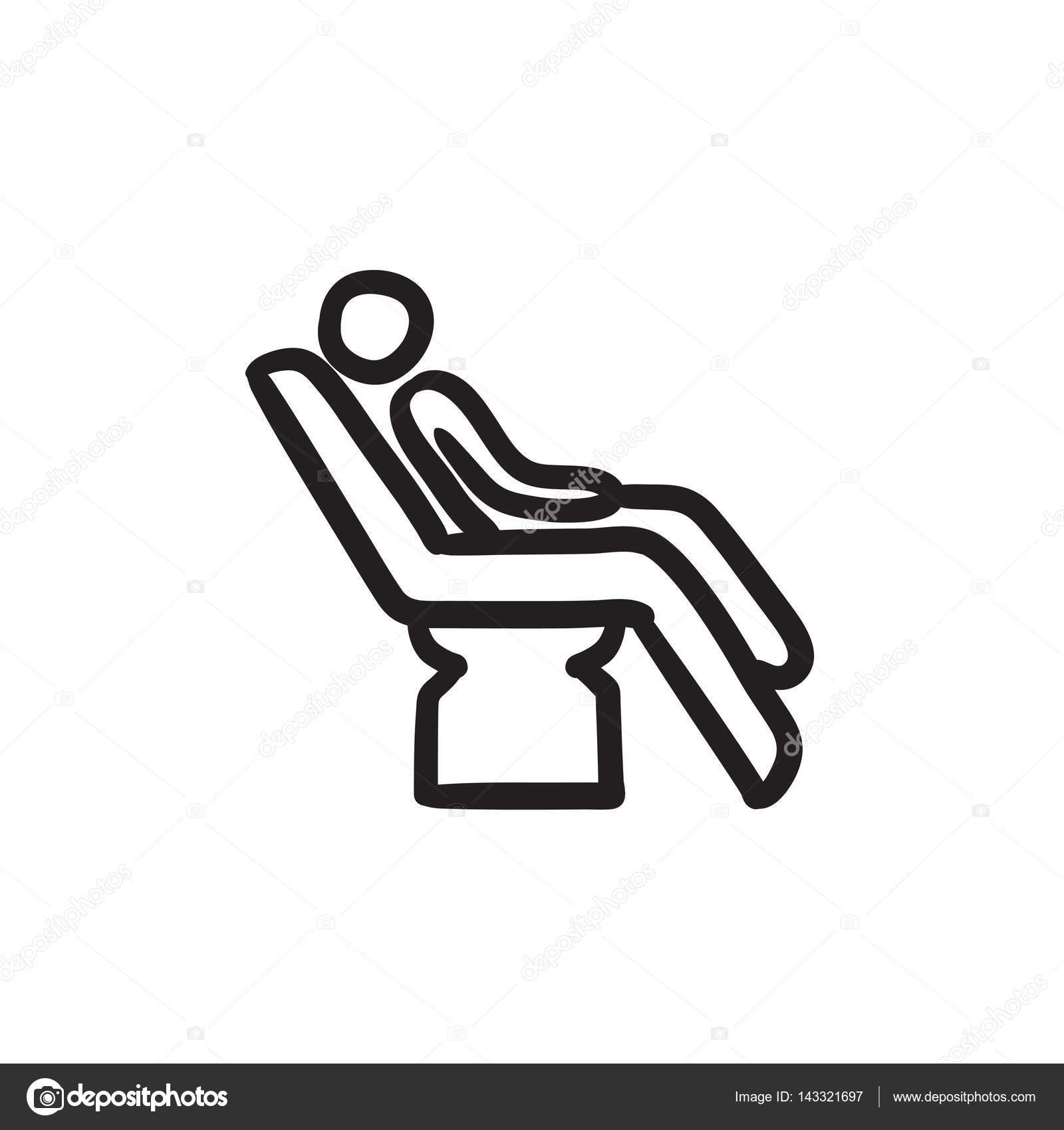 Diş Sandalye Kroki Kutsal Kişilerin Resmi üstünde Oturan Adam Stok