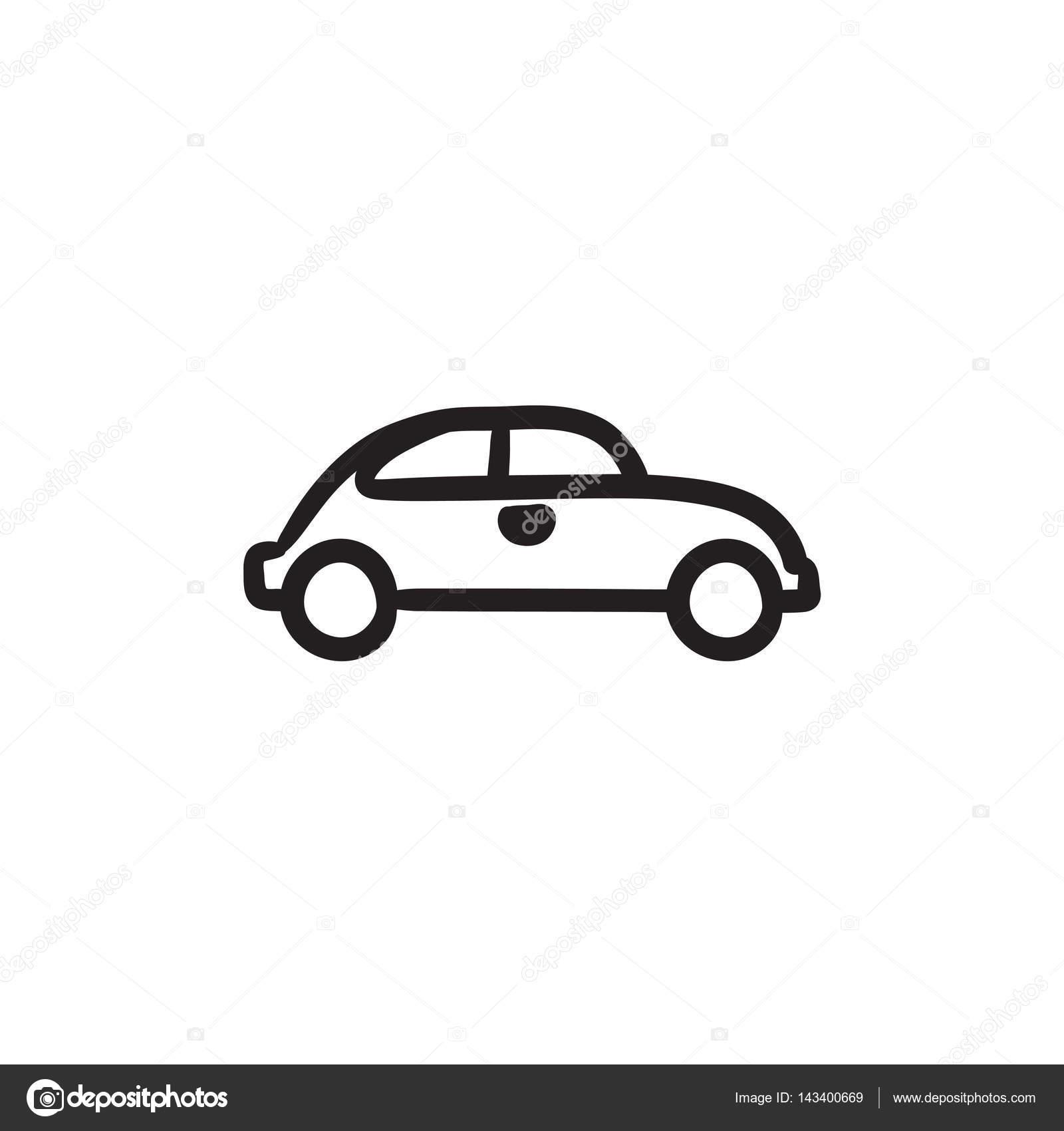 Auto-Skizze-Symbol — Stockvektor © rastudio #143400669