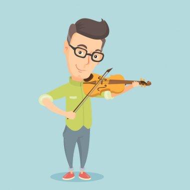 Man playing violin vector illustration.