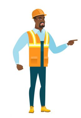 Furious builder screaming vector illustration.