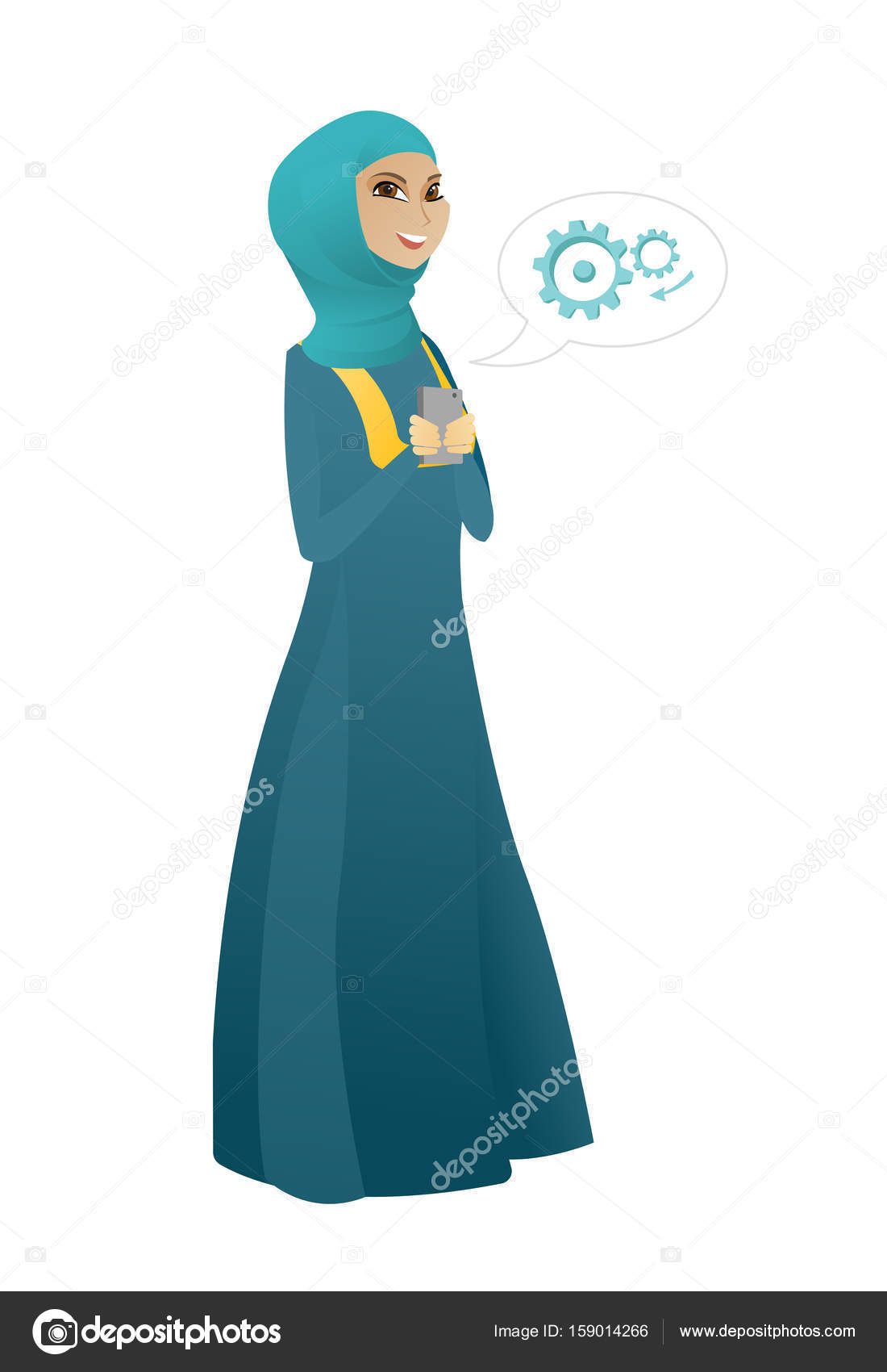 Женщина рука сотовый телефон с пустой экран на открытом воздухе.