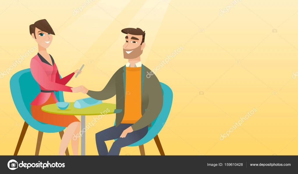Man receiving manicure in nail salon. — Stock Vector © rastudio ...
