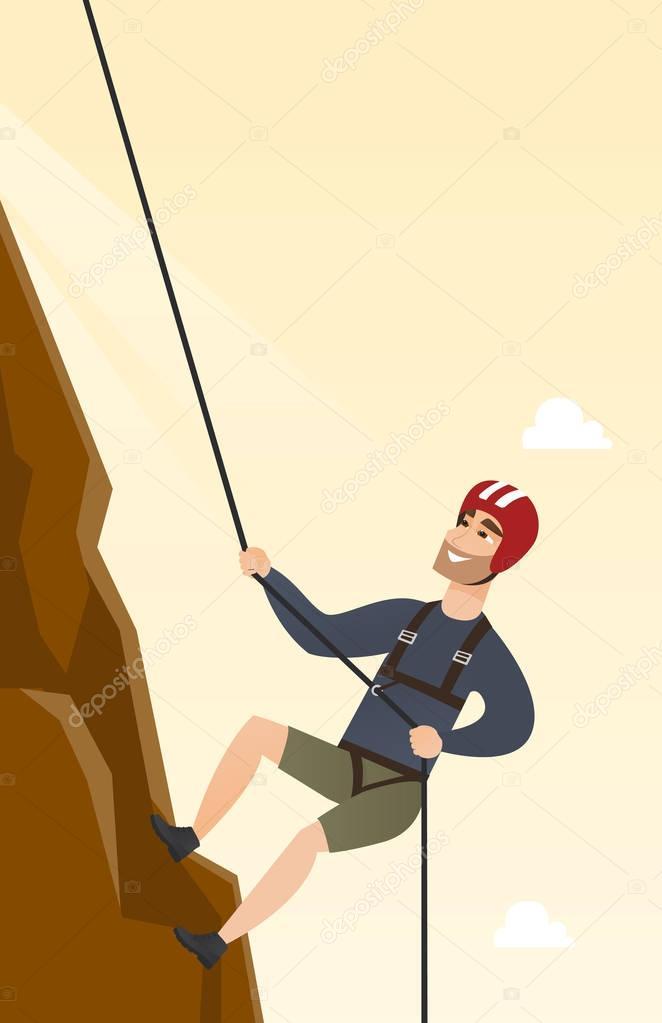 Dibujos: hombre escalando montaña dibujo | Joven caucásica ...