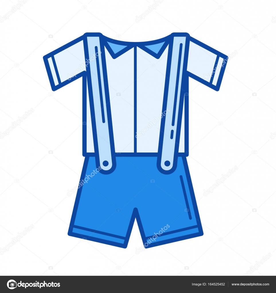 Baby clothes line icon — Stock Vector © rastudio