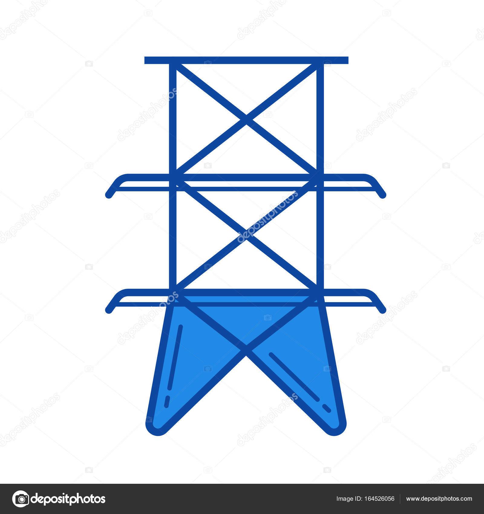 Elektrische Turm Symbol — Stockvektor © rastudio #164526056