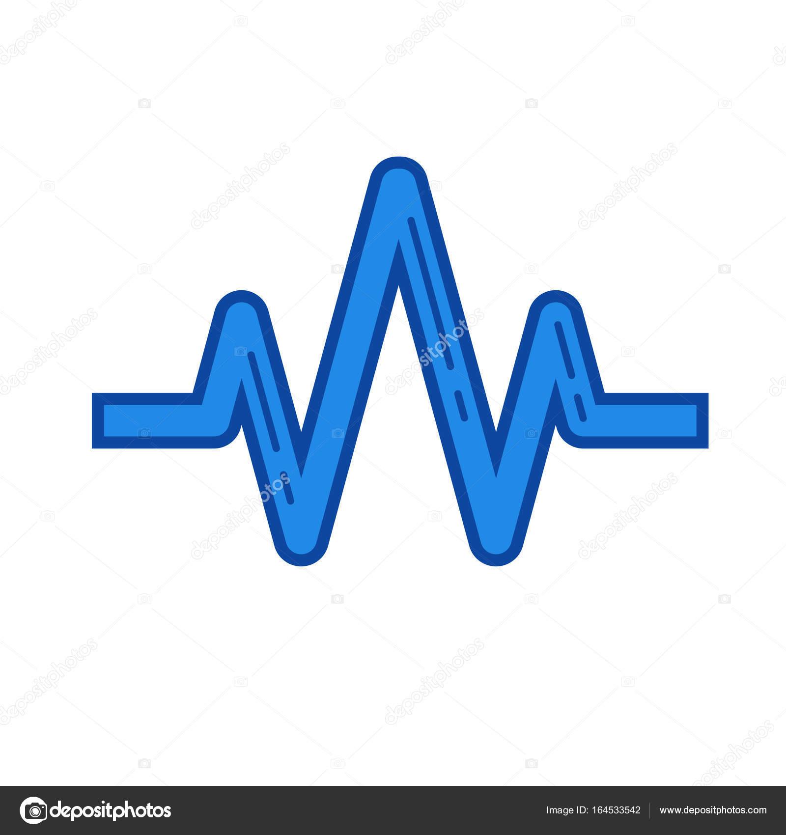 sound wave line icon stock vector rastudio 164533542 rh depositphotos com sound wave vector free download sound wave vector ai
