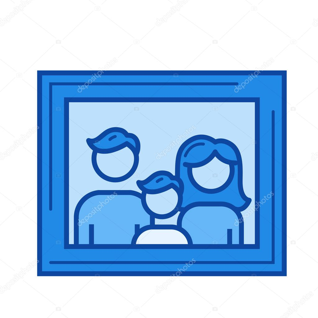 Family portrait line icon.