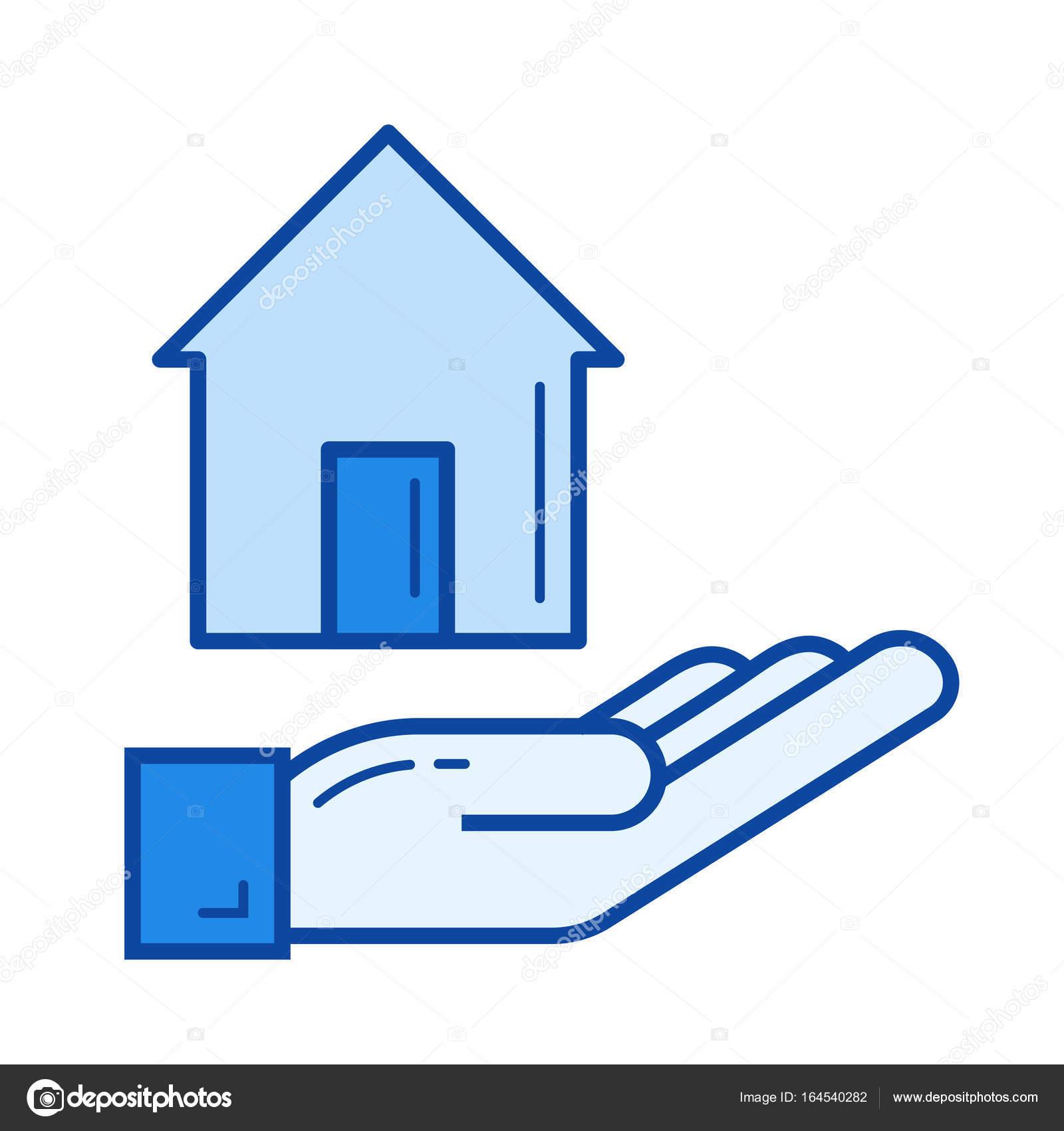 Neue Haus Kauf Liniensymbol — Stockvektor © rastudio #164540282