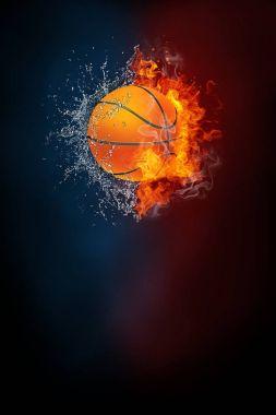 Basketball sports tournament modern poster template.