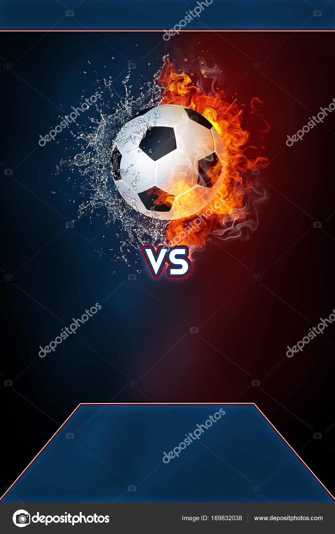 Plantilla de fútbol deportes torneo cartel moderno — Foto de stock ...