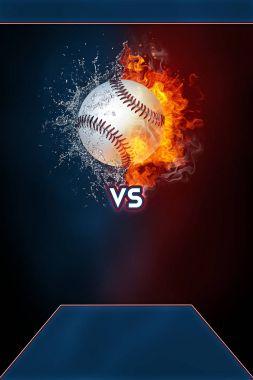 Baseball sports tournament modern poster template.