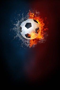 Soccer sports tournament modern poster template.