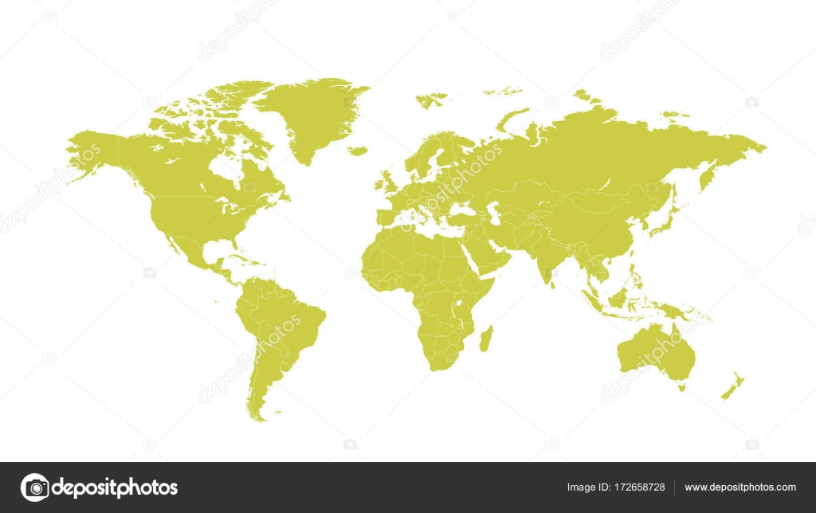 Political world map vector cartoon illustration stock vector political world map vector cartoon illustration stock vector gumiabroncs Choice Image