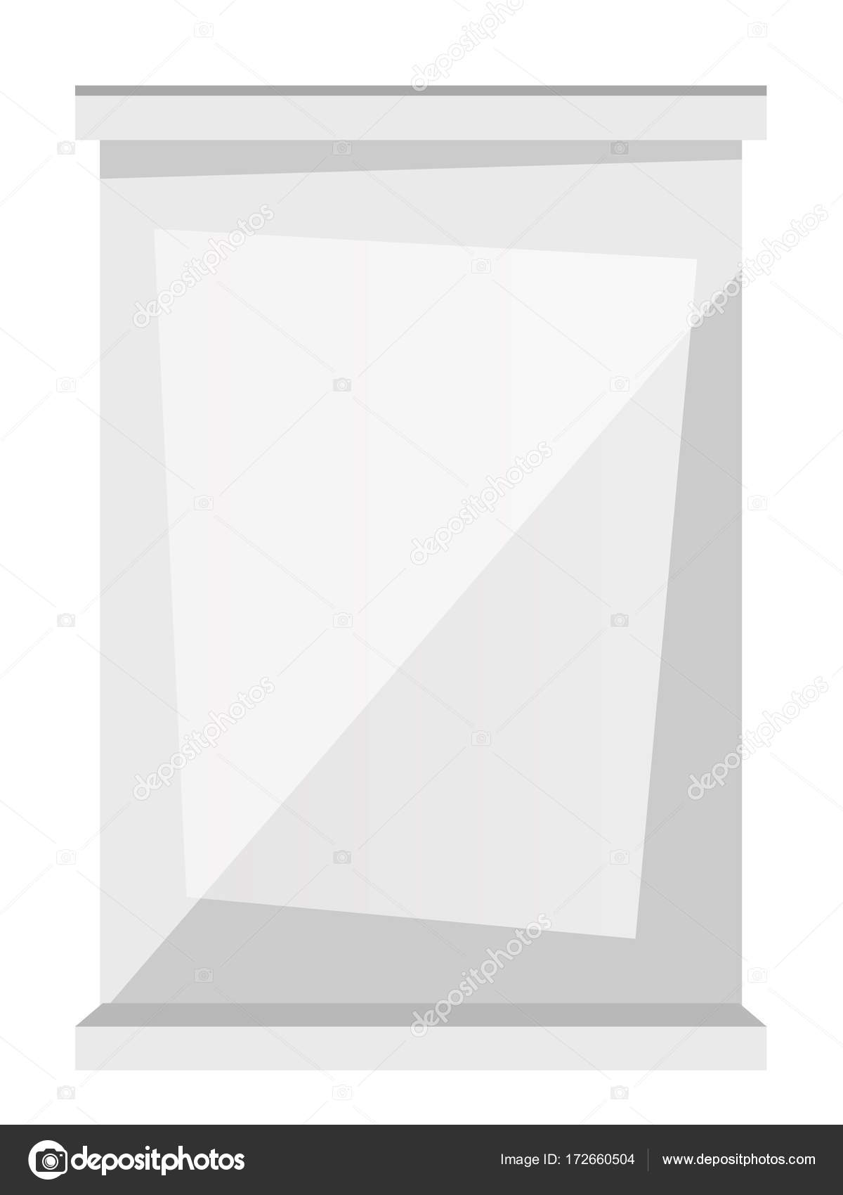 White window frame vector cartoon illustration. — Stock Vector ...