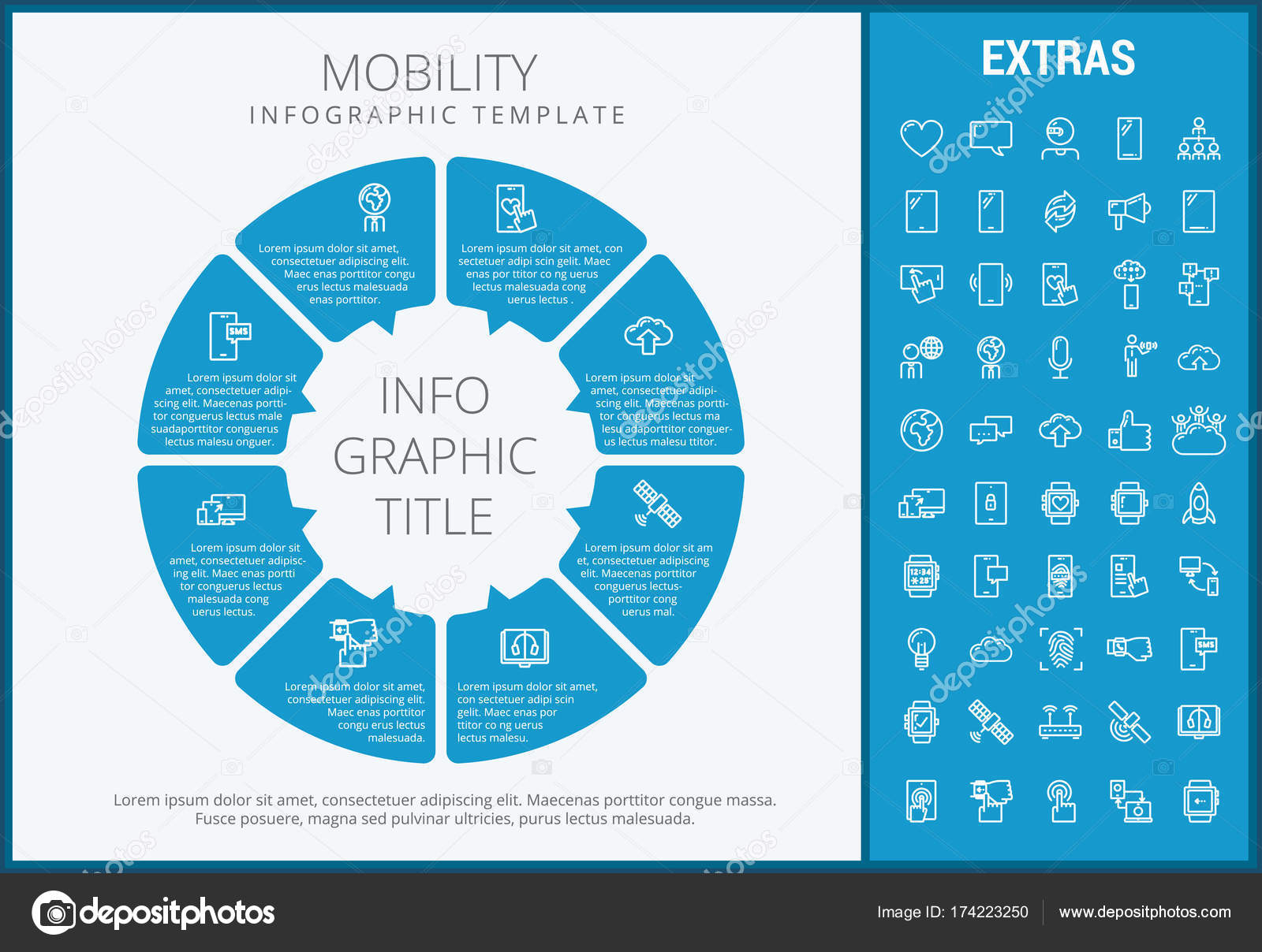 Mobility Infographic Template Elements And Icons Stock Vector