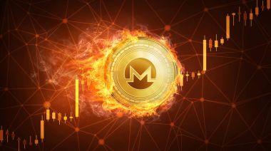 Ethereum para boğa hisse senedi grafiği ile yangında.