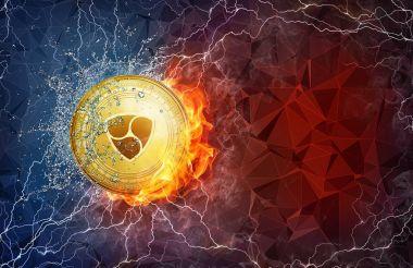 Yangın alev, yıldırım ve su sıçramalarına altın Nem para zor çatal.