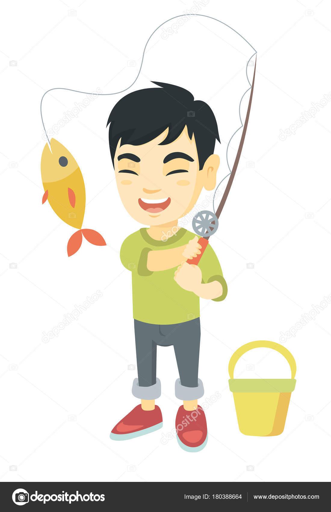 Fiske spö krok upp