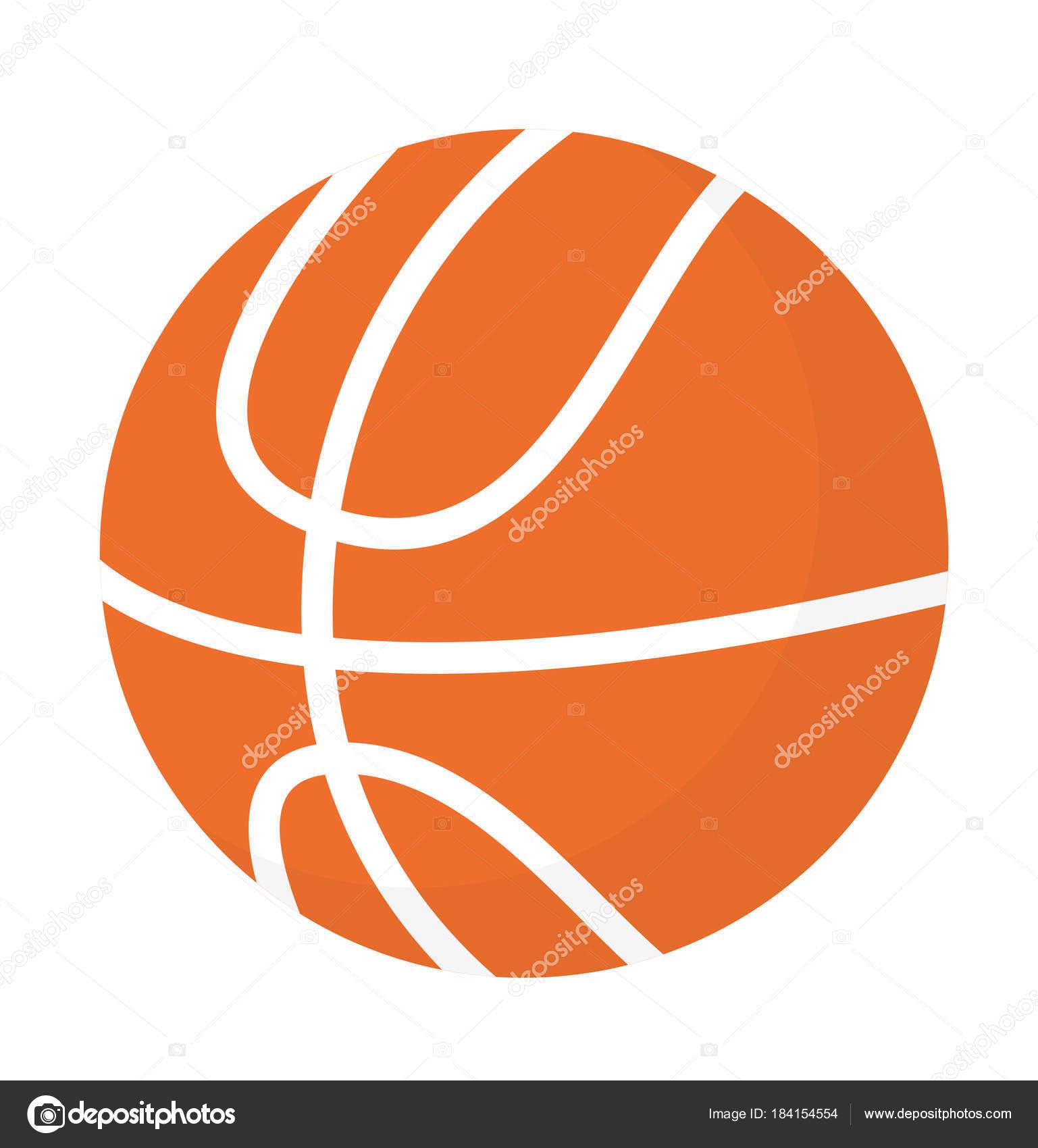 ilustração de desenhos animados do basquete bola vetorial vetor de