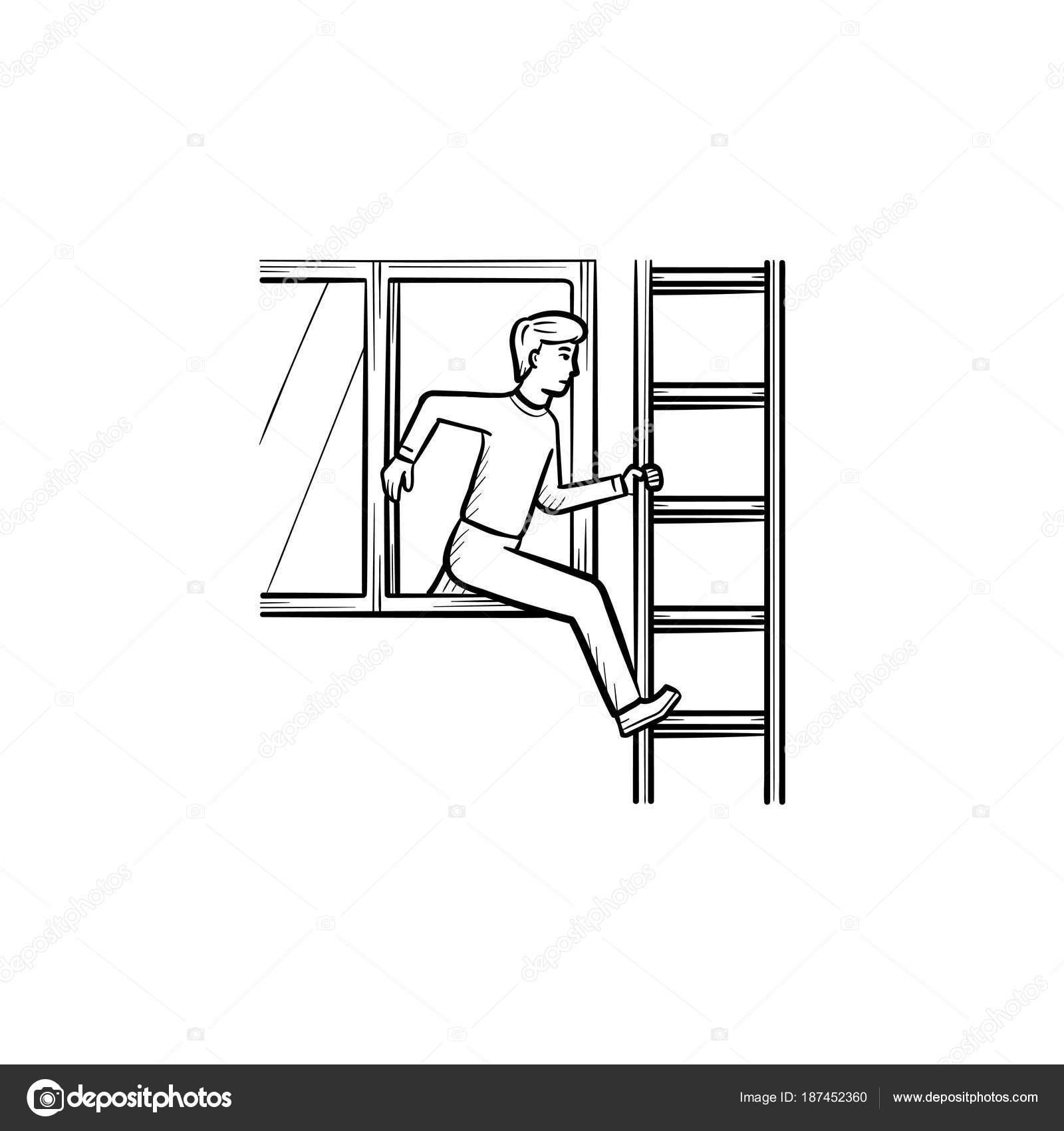 Brand Unfall Handsymbol gezeichnete Skizze — Stockvektor © rastudio ...