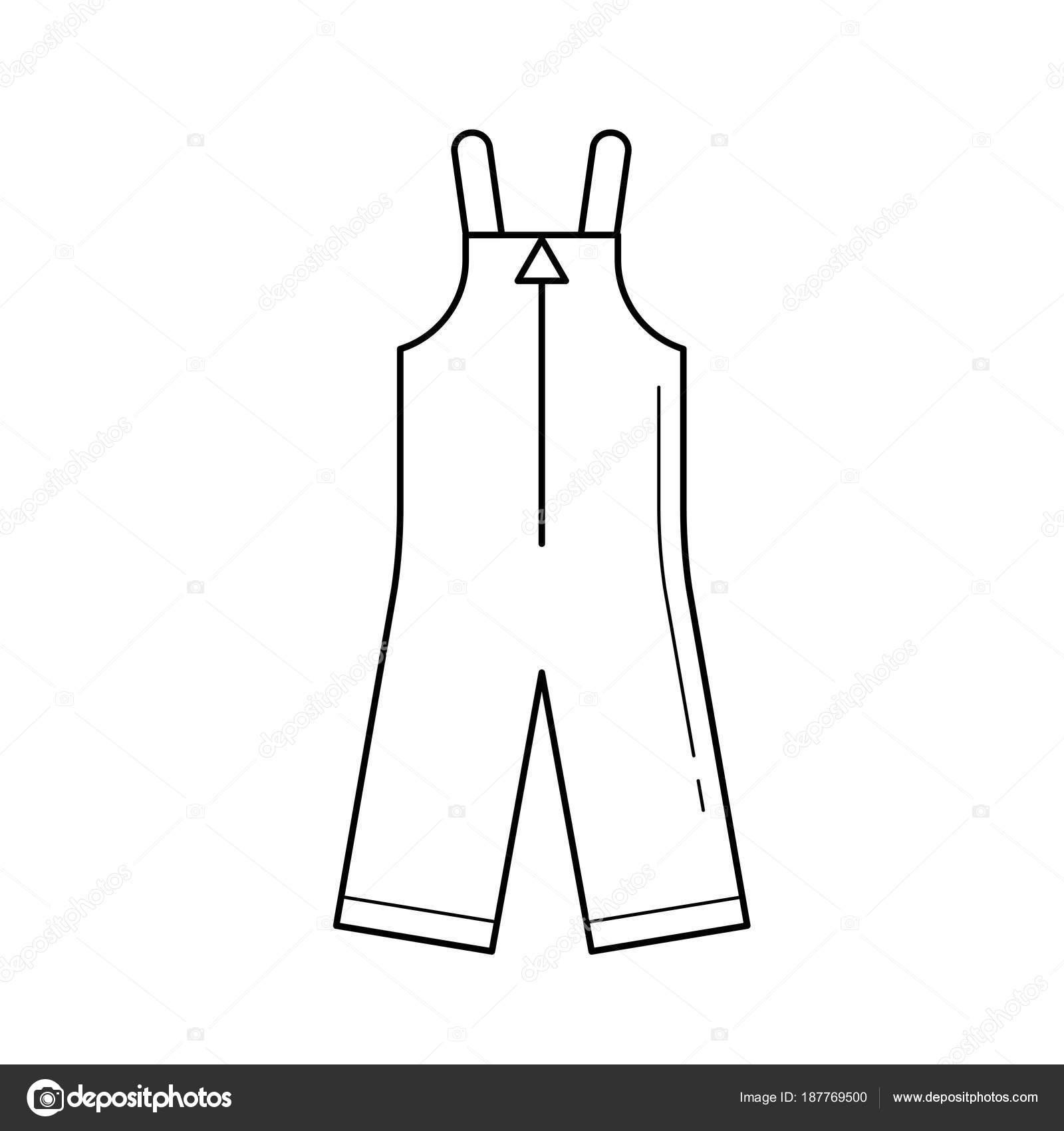 Bebé ropa vector línea icono aislado sobre fondo blanco. Peleles - ropa de  invierno para los niños la línea icono de infografía bd70d400736f