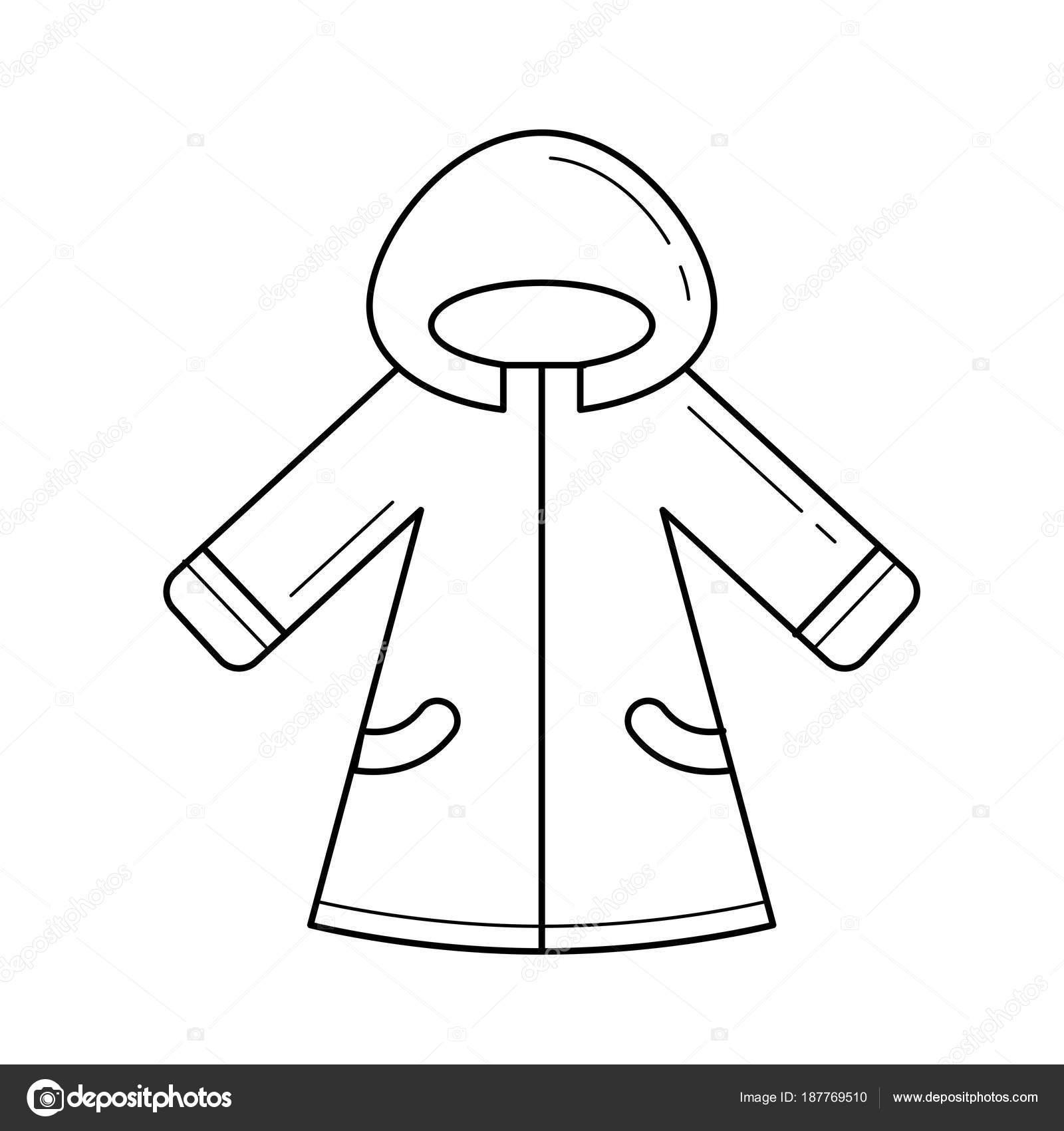 Ropa de invierno de bebé vector icono de línea — Archivo Imágenes  Vectoriales c008a8cbdf67