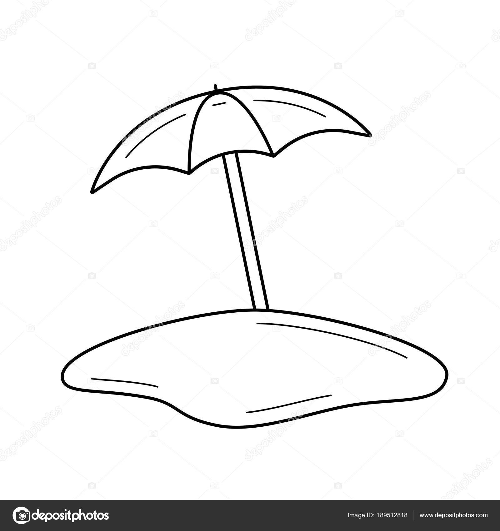 Icono de línea de paraguas de playa — Vector de stock © rastudio ...