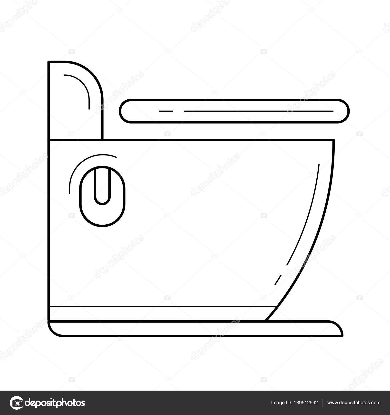 Toilet line icon. — Stock Vector © rastudio #189512992