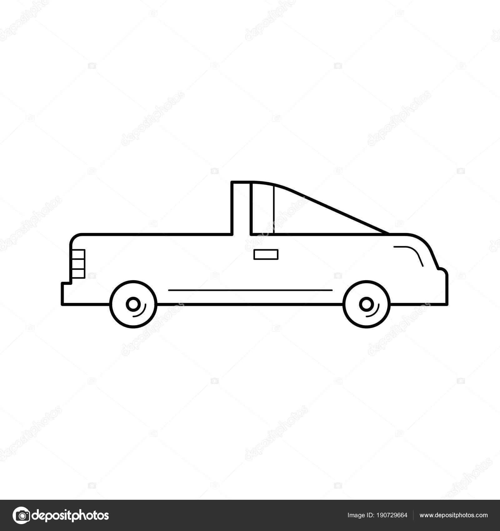 Coupe Car Line Icon Stock Vector C Rastudio 190729664
