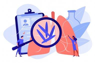 Tuberculosis concept vector illustration.