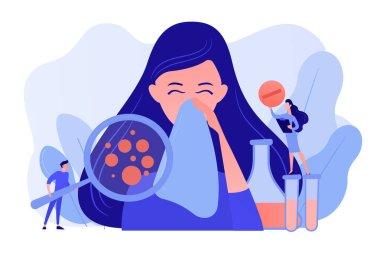 Allergic diseases concept vector illustration.