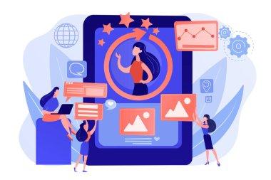 Online identity management concept vector illustration