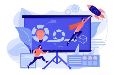 Agile project management concept vector illustration.